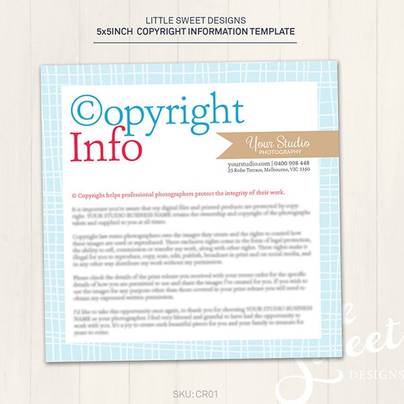 Copyright information card photoshop by littlesweetdesigns for Copyright facts and information