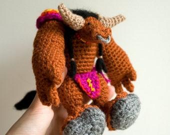 CROCHET PATTERN for World of Warcraft tauren doll / WoW amigurumi pattern / Crochet pattern for Minotaur / World of Warcraft gift idea