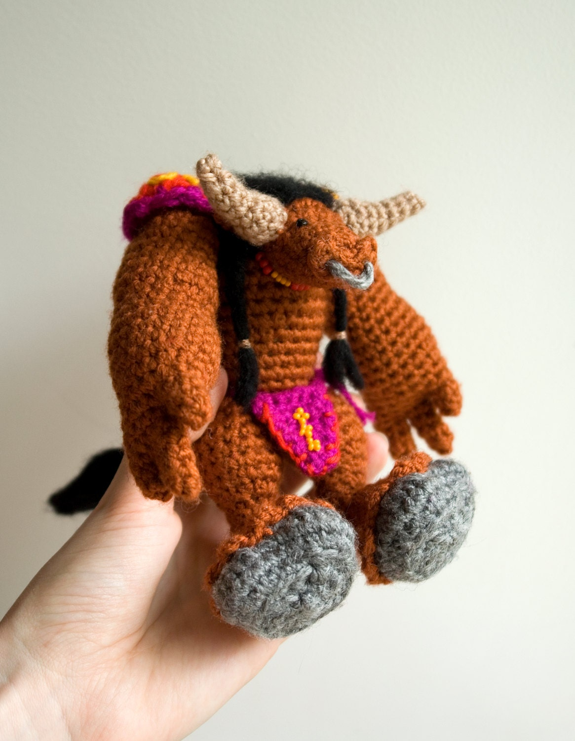 CROCHET PATTERN for World of Warcraft tauren doll / WoW
