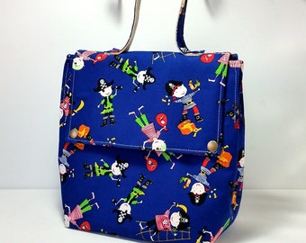 SALE!!! 20% OFF: Insulated Lunch Bag / Fabric Lunchbag / Pirates