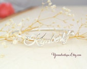 Personalized Name Bracelet. Name Bangle. 925 Sterling Silver Bracelet. Gold Bracelet
