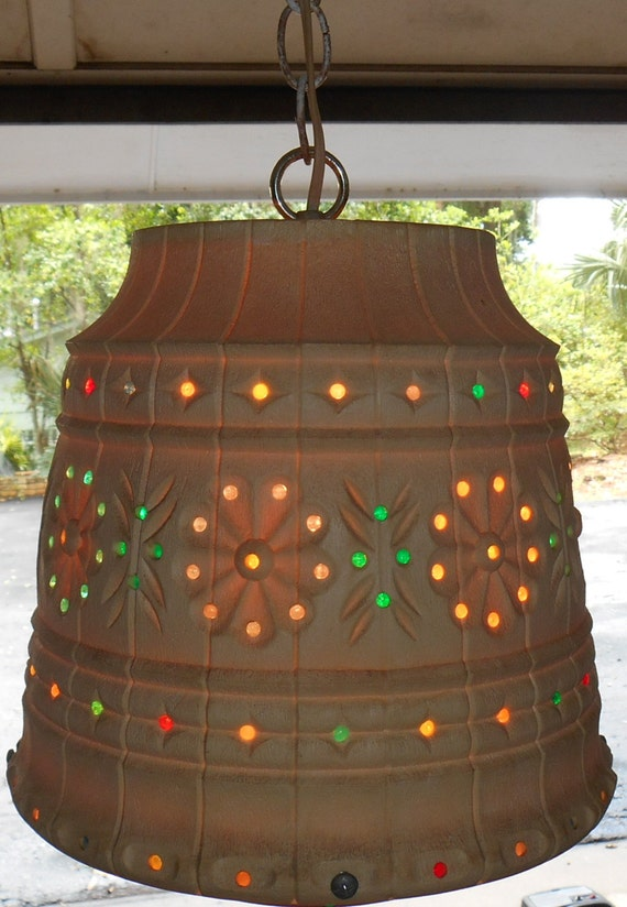 Outdoor Hanging Swag Lamp By Lawnware Retro Patio Lighting