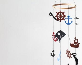 Pirate Mobile Jake and the Neverland Pirates Baby Boy Decor Nursery Nautical