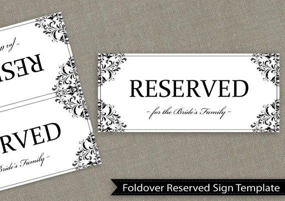 Foldable reserved sign template pictures to pin on for Reserved parking signs template