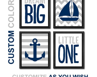 nautical wall art dream big quote baby boy nautical nursery wall art sailing art modern kids art baby room new baby gift sail boat anchor