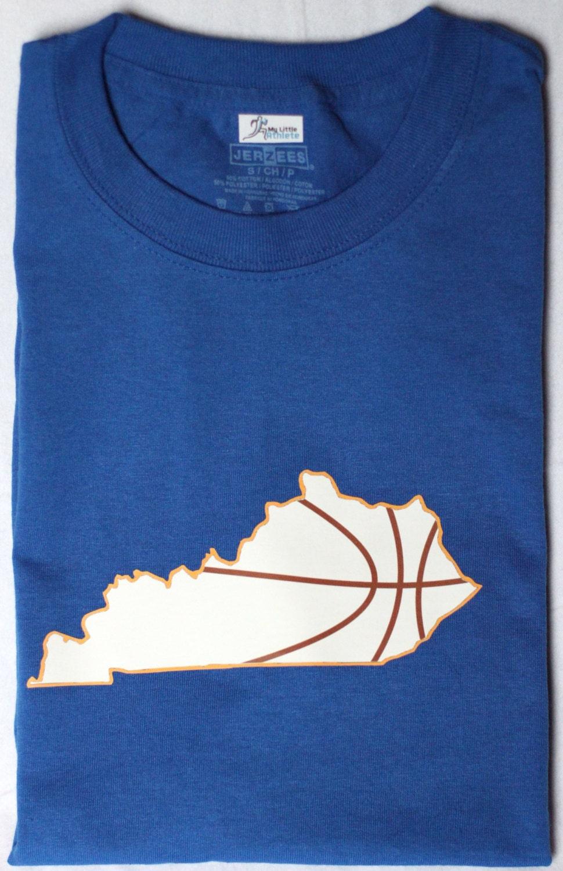 Kentucky basketball t shirt bball apparel sports shirt for Custom t shirts lexington ky