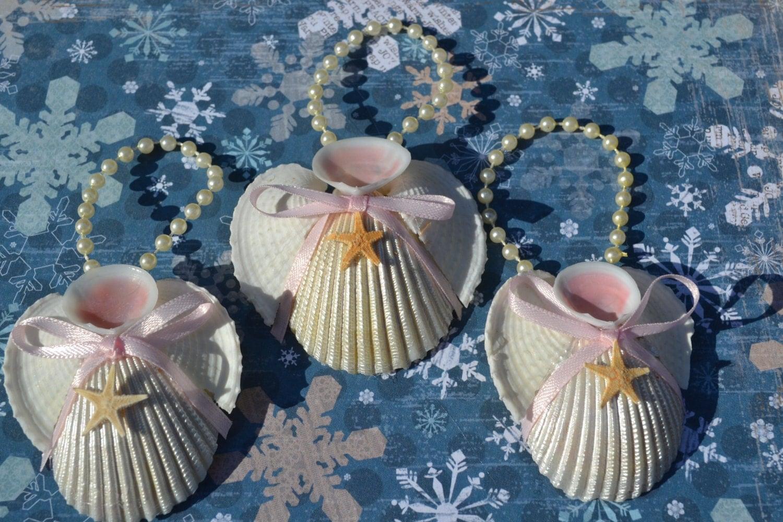 Seashell Angels Christmas Decor Christmas Ornament 3