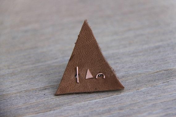 rose gold ohrstecker set geometrisch balken dreieck bogen etsy. Black Bedroom Furniture Sets. Home Design Ideas