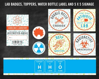 Children's Science Party Printables