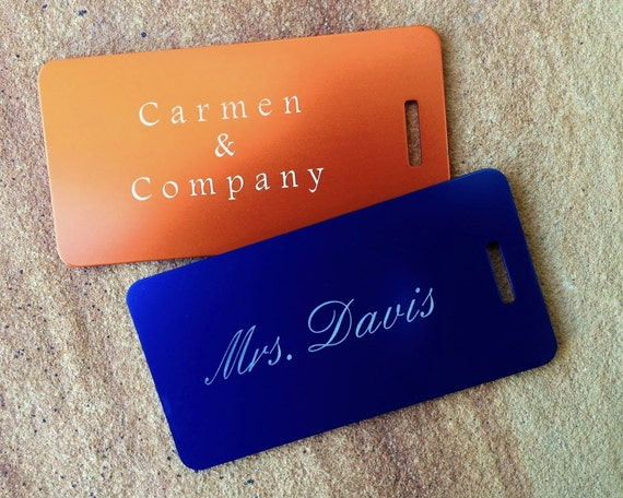 Personalized Luggage Tags Wedding Gift: Personalized Luggage Tag Custom Luggage Tag Metal By