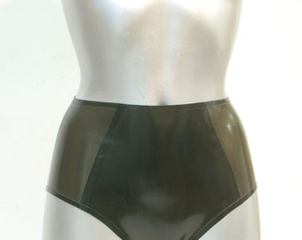 Latex Rubber High Waist briefs
