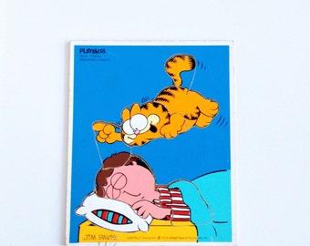 Vintage Garfield Playskool Frame Puzzle