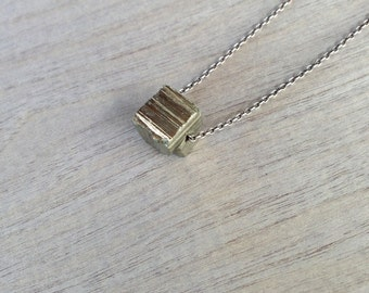 Golden Pyrite Nugget Sterling Silver Necklace