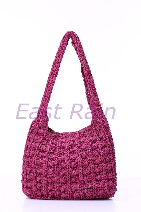 crochet crochet bag shoulder bag handbag handmade girl purse give ...