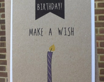 Handmade, Make a Wish Birthday Card