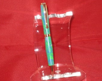Handcrafted Comfort Slimline twist pen (Polymer Clay) (Includes a Slimline Pen Box)