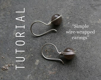 Tutorial: Simple Wire-Wrapped Earrings
