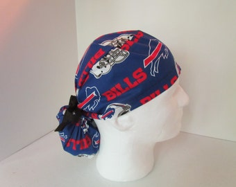 Buffalo Bills PonyTail Tie Back Scrub Hat
