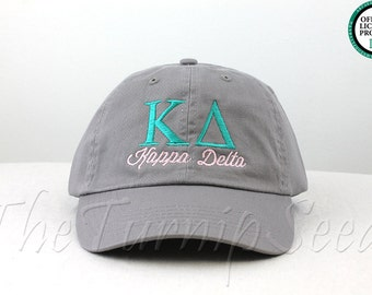 Kappa Delta Sorority Baseball Cap - Custom Color Hat and Embroidery.