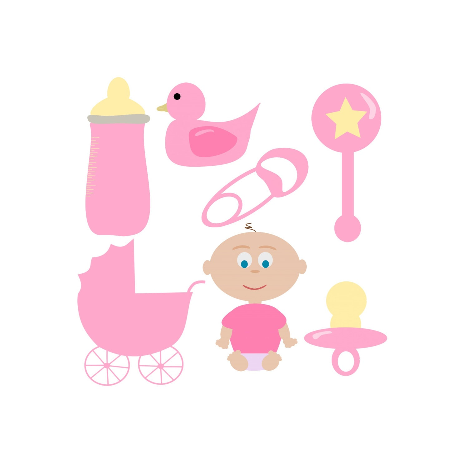 baby girl clipart shower - photo #3