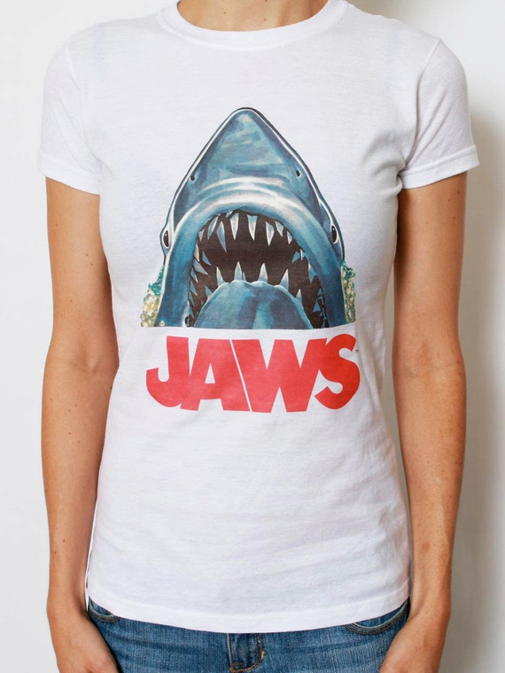 Vintage jaws tee 70s t shirt for 70 s t shirt transfers