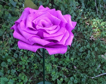 Standing Giant Crepe Paper Roses: Awesome Deco for Weddings, Baby Showers, and Birthdays- Various Sizes and Colors Available