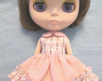 Blythe outfit Cute Print  Dress