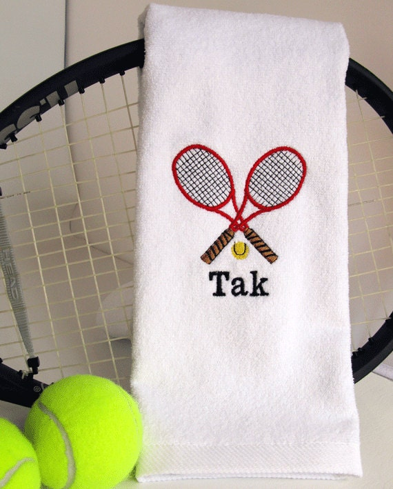Tennis Gift Personalized Tennis Towel By TennisGiftsToGo