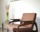 RESERVED - Mid Century Pearsall Style Walnut Rocking Chair - 1960's Danish Modern