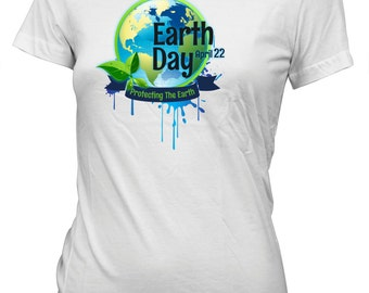 Earth Day Protecting the Earth T-Shirt for Juniors