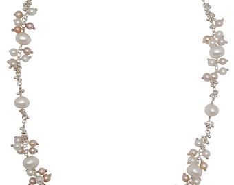 Necklace, Signature Granulation With Clustering Pearls