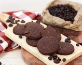 Espresso Chocolate Shortbread Cookies with Sea Salt
