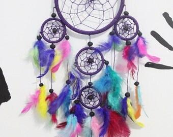 Dark Purple Rainbow Dreamcatcher