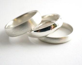 Unisex Silver Wedding Band