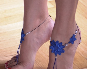 Lace Barefoot Sandals - Free Shipping