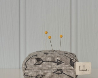 Arrow printed pin cushion