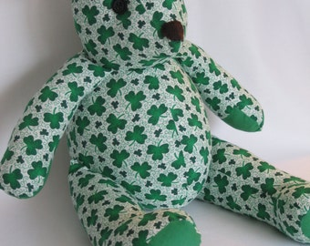 St Patrick's Day teddy bear