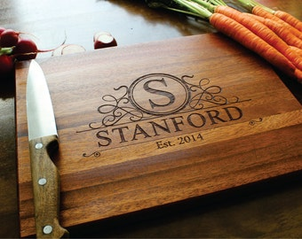 Personalized Cutting Board, Wedding Gift, Anniversary Gift, Bridal Shower, Housewarming,  Gift For Him, Gift For Her, Fathers Day Gift