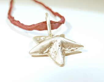 Pendant Star of silver sterling silver solid - handforged by SILVER LOUNGE