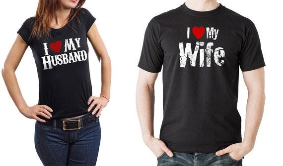 paar t shirts ich liebe meine frau ich liebe meinen. Black Bedroom Furniture Sets. Home Design Ideas