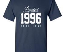 1996 Limited Edition 2015 Birthday 19th Birthday Party Shirt T-Shirt Tee Shirt T Shirt Mens Ladies Womens Funny Modern Tee TH-190