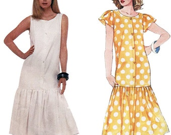 McCall's Sewing Pattern 2566 Easy Petite-able Misses Dress   Size 12  or  8  Used