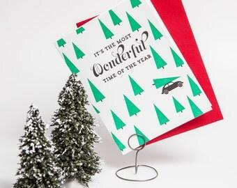 Letterpressed Christmas Card