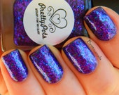 Hurricane Blurple 2.0 by Prettypots Polish - Collection One - 12ml Handmixed Glitter Aussie Indie Nail Polish
