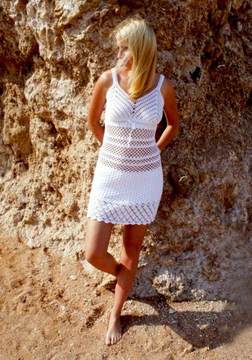 Sexy crochet dress