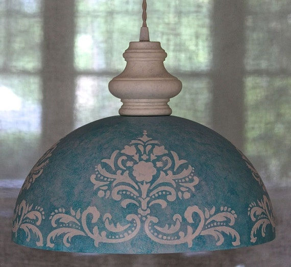 large modern dome pendant light beach cottage chic by