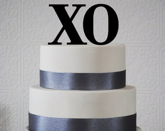 XO - Wedding cake topper - available in 14 colors