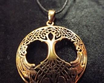 Tree of Life Pendant Handmade Celtic Copper Necklace Jewelry
