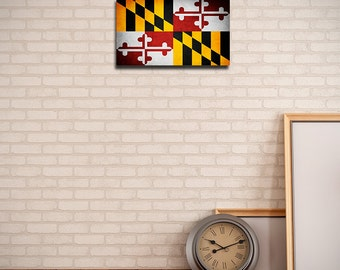 Maryland Canvas Flag