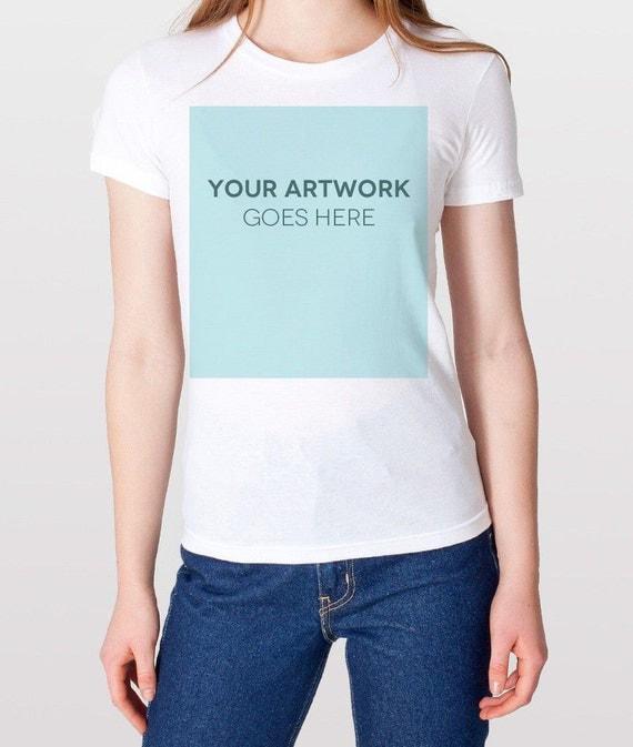 Women 39 s custom t shirt printing no minimum order for Order custom t shirts no minimum